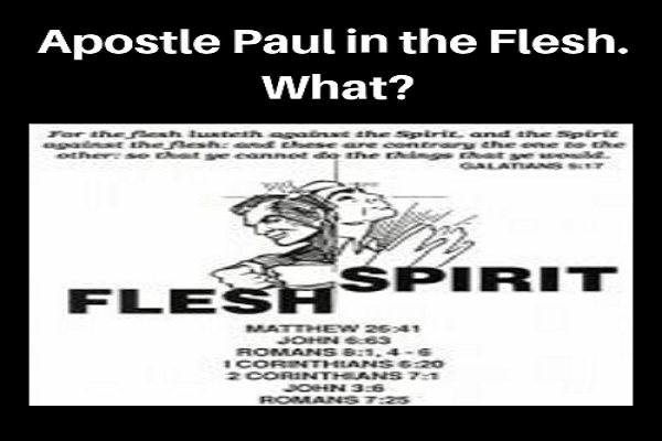 Apostle Paul in the Flesh - What?