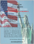 Special Teaching: Revelation -The End Times: The U. S. In Prophecy